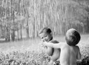 boys in the rain